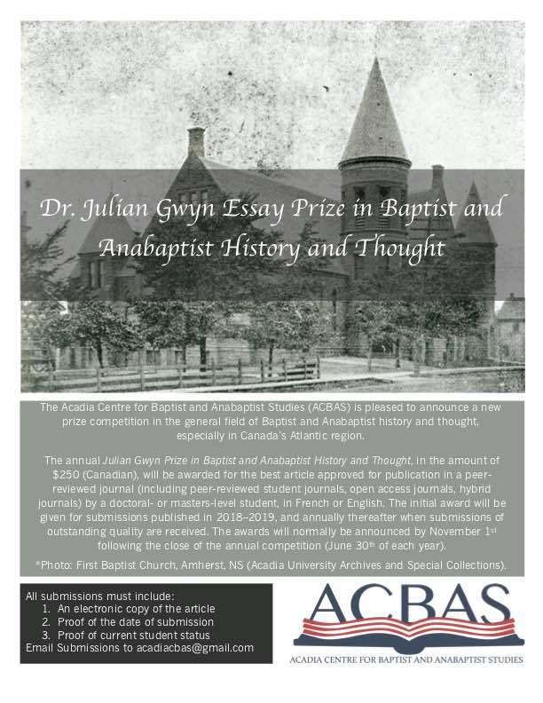 Dissertation prizes history